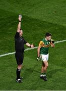 25 January 2020; Referee Seán Hurson shows a black card to Graham O'Sullivan of Kerry, in the 62nd minute, during the Allianz Football League Division 1 Round 1 match between Dublin and Kerry at Croke Park in Dublin. Photo by Ray McManus/Sportsfile