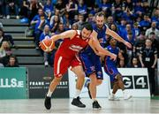 25 January 2020; Neil Randolph of Griffith College Templeogue in action against Mark Reynolds of DBS Eanna during the Hula Hoops Pat Duffy National Cup Final between DBS Éanna and Griffith College Templeogue at the National Basketball Arena in Tallaght, Dublin. Photo by Harry Murphy/Sportsfile