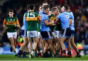 25 January 2020; A tussle between players of both teams breaks out after the final whistle of the Allianz Football League Division 1 Round 1 match between Dublin and Kerry at Croke Park in Dublin. Photo by Ben McShane/Sportsfile