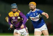25 January 2020; Seamus Casey of Wexford in action against Padraig Delaney of Laois during the Allianz Hurling League Division 1 Group B Round 1 match between Laois and Wexford at MW Hire O'Moore Park in Portlaoise, Co Laois. Photo by Michael P Ryan/Sportsfile