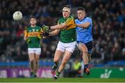 25 January 2020; Seán O'Shea of Kerry and Brian Howard of Dublin during the Allianz Football League Division 1 Round 1 match between Dublin and Kerry at Croke Park in Dublin. Photo by Ramsey Cardy/Sportsfile