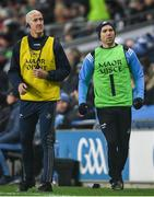 25 January 2020; Dublin selector Paul Clarke, left, and Daniel Davey during the Allianz Football League Division 1 Round 1 match between Dublin and Kerry at Croke Park in Dublin. Photo by Ramsey Cardy/Sportsfile