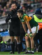 25 January 2020; Sideline official David Gough checks his watch during a sin bin period for Graham O'Sullivan of Kerry during the Allianz Football League Division 1 Round 1 match between Dublin and Kerry at Croke Park in Dublin. Photo by Ramsey Cardy/Sportsfile