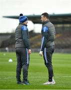 26 January 2020; Waterford manager Liam Cahill, left, with Shane Fives prior to the Allianz Hurling League Division 1 Group A Round 1 match between Waterford and Cork at Walsh Park in Waterford. Photo by David Fitzgerald/Sportsfile