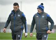 26 January 2020; Waterford manager Liam Cahill, right, with Shane Fives prior to the Allianz Hurling League Division 1 Group A Round 1 match between Waterford and Cork at Walsh Park in Waterford. Photo by David Fitzgerald/Sportsfile