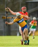 26 January 2020; Pat O'Connor of Clare in action against Edward Byrne of Carlow during the Allianz Hurling League Division 1 Group B Round 1 match between Clare and Carlow at Cusack Park in Ennis, Clare. Photo by Diarmuid Greene/Sportsfile