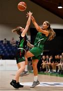 26 January 2020; Ciara Wheeler of Portlaoise Panthers in action against Edel Thornton of Trinity Meteors during the Hula Hoops Women's Division One National Cup Final between Portlaoise Panthers and Trinity Meteors at the National Basketball Arena in Tallaght, Dublin. Photo by Brendan Moran/Sportsfile