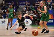 26 January 2020; Edel Thornton of Trinity Meteors in action against Gillian Wheeler of Portlaoise Panthers during the Hula Hoops Women's Division One National Cup Final between Portlaoise Panthers and Trinity Meteors at the National Basketball Arena in Tallaght, Dublin. Photo by Brendan Moran/Sportsfile