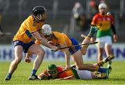 26 January 2020; Tony Kelly and Aidan McCarthy of Clare in action against Paul Coady of Carlow during the Allianz Hurling League Division 1 Group B Round 1 match between Clare and Carlow at Cusack Park in Ennis, Clare. Photo by Diarmuid Greene/Sportsfile
