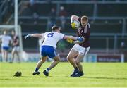 26 January 2020; Adrian Varley of Galway in action against Ryan Wylie of Monaghan during the Allianz Football League Division 1 Round 1 match between Galway and Monaghan at Pearse Stadium in Galway. Photo by Daire Brennan/Sportsfile