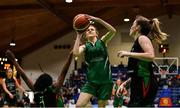 26 January 2020; Lisa Blaney of Portlaoise Panthers in action against Lauren Grigsby of Trinity Meteors during the Hula Hoops Women's Division One National Cup Final between Portlaoise Panthers and Trinity Meteors at the National Basketball Arena in Tallaght, Dublin. Photo by Brendan Moran/Sportsfile