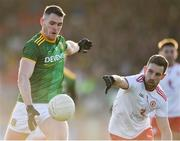 26 January 2020; Bryan Menton of Meath in action against Niall Sludden of Tyrone during the Allianz Football League Division 1 Round 1 match between Tyrone and Meath at Healy Park in Omagh, Tyrone. Photo by Oliver McVeigh/Sportsfile
