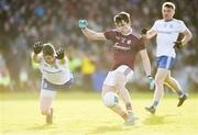 26 January 2020; Finian Ó Laoí of Galway in action against Darren Hughes of Monaghan during the Allianz Football League Division 1 Round 1 match between Galway and Monaghan at Pearse Stadium in Galway. Photo by Daire Brennan/Sportsfile