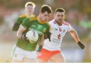 26 January 2020; Donal Keogan of Meath in action against Darren McCurry of Tyrone during the Allianz Football League Division 1 Round 1 match between Tyrone and Meath at Healy Park in Omagh, Tyrone. Photo by Oliver McVeigh/Sportsfile