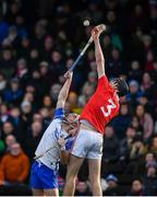 26 January 2020; Dessie Hutchinson of Waterford in action against Robert Downey of Cork during the Allianz Hurling League Division 1 Group A Round 1 match between Waterford and Cork at Walsh Park in Waterford. Photo by David Fitzgerald/Sportsfile