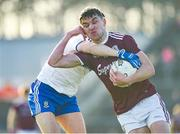 26 January 2020; Michael Daly of Galway in action against Ryan Wylie of Monaghan during the Allianz Football League Division 1 Round 1 match between Galway and Monaghan at Pearse Stadium in Galway. Photo by Daire Brennan/Sportsfile