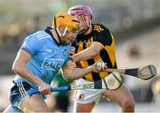 26 January 2020; Eamon Dillon of Dublin is tackled by Ciaran Wallace of Kilkenny during the Allianz Hurling League Division 1 Group B Round 1 match between Kilkenny and Dublin at UPMC Nowlan Park in Kilkenny. Photo by Ray McManus/Sportsfile