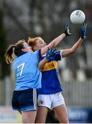 26 January 2020; Aishling Moloney  of Tipperary in action against Lucy Collins of Dublin during the 2020 Lidl Ladies National Football League Division 1 Round 1 match between Dublin and Tipperary at St Endas GAA club in Ballyboden, Dublin. Photo by Harry Murphy/Sportsfile
