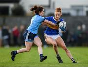 26 January 2020; Aishling Moloney of Tipperary in action against Niamh Collins of Dublin during the 2020 Lidl Ladies National Football League Division 1 Round 1 match between Dublin and Tipperary at St Endas GAA club in Ballyboden, Dublin. Photo by Harry Murphy/Sportsfile