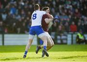 26 January 2020; Michael Boyle of Galway in action against Darren Hughes of Monaghan during the Allianz Football League Division 1 Round 1 match between Galway and Monaghan at Pearse Stadium in Galway. Photo by Daire Brennan/Sportsfile