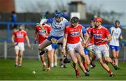 26 January 2020; Jack Fagan of Waterford in action against Damien Cahalane of Cork during the Allianz Hurling League Division 1 Group A Round 1 match between Waterford and Cork at Walsh Park in Waterford. Photo by David Fitzgerald/Sportsfile