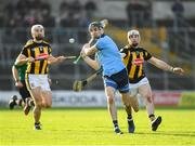 26 January 2020; Danny Sutcliffe of Dublin in action against Michael Carey, right, and Kilkenny of Kilkenny during the Allianz Hurling League Division 1 Group B Round 1 match between Kilkenny and Dublin at UPMC Nowlan Park in Kilkenny. Photo by Ray McManus/Sportsfile