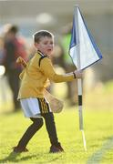26 January 2020; Five year old Finnóg McGarry, a son of the groundsman Kevin, helps to collect sideline flags after the Allianz Hurling League Division 1 Group B Round 1 match between Kilkenny and Dublin at UPMC Nowlan Park in Kilkenny. Photo by Ray McManus/Sportsfile
