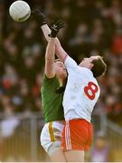 26 January 2020; Bryan Menton of Meath in action against Colm Cavanagh of Tyrone during the Allianz Football League Division 1 Round 1 match between Tyrone and Meath at Healy Park in Omagh, Tyrone. Photo by Oliver McVeigh/Sportsfile