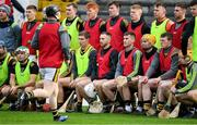26 January 2020; Members of the Kilkenny panel, wearing training bibs, present for the traditional team photograph before the Allianz Hurling League Division 1 Group B Round 1 match between Kilkenny and Dublin at UPMC Nowlan Park in Kilkenny. Photo by Ray McManus/Sportsfile