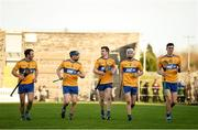 26 January 2020; Clare players Pat O Connor, David McInerney, Tony Kelly, Jack Browne and Colin Guilfoyle warm down after the Allianz Hurling League Division 1 Group B Round 1 match between Clare and Carlow at Cusack Park in Ennis, Clare. Photo by Diarmuid Greene/Sportsfile