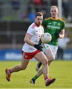 26 January 2020; Niall Sludden of Tyrone in action against Brian Conlon of Meath during the Allianz Football League Division 1 Round 1 match between Tyrone and Meath at Healy Park in Omagh, Tyrone. Photo by Oliver McVeigh/Sportsfile