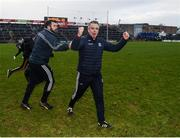 26 January 2020; Galway manager Padraic Joyce celebrates at the final whistle after the Allianz Football League Division 1 Round 1 match between Galway and Monaghan at Pearse Stadium in Galway. Photo by Daire Brennan/Sportsfile