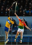 26 January 2020; Shane O'Donnell of Clare in action against Michael Doyle of Carlow during the Allianz Hurling League Division 1 Group B Round 1 match between Clare and Carlow at Cusack Park in Ennis, Clare. Photo by Diarmuid Greene/Sportsfile