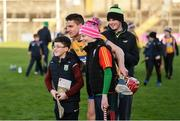 26 January 2020; John Conlon of Clare has his photograph taken with supporters after the Allianz Hurling League Division 1 Group B Round 1 match between Clare and Carlow at Cusack Park in Ennis, Clare. Photo by Diarmuid Greene/Sportsfile