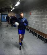 26 January 2020; Monaghan captain Ryan Wylie leads his side out ahead of the Allianz Football League Division 1 Round 1 match between Galway and Monaghan at Pearse Stadium in Galway. Photo by Daire Brennan/Sportsfile