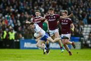 26 January 2020; Karl O'Connell of Monaghan in action against Michael Daly of Galway during the Allianz Football League Division 1 Round 1 match between Galway and Monaghan at Pearse Stadium in Galway. Photo by Daire Brennan/Sportsfile