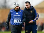 26 January 2020; Tipperary manager Shane Ronayne speaks with mentor Ed Burke during the 2020 Lidl Ladies National Football League Div 1 Round 1 match between Dublin and Tipperary at St Endas GAA club in Ballyboden, Dublin. Photo by Harry Murphy/Sportsfile