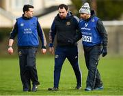 26 January 2020; Tipperary manager Shane Ronayne, right, speaks with Tipperary strength and conditioning coach James O'Leary, left, and mentor Ed Burke during the 2020 Lidl Ladies National Football League Div 1 Round 1 match between Dublin and Tipperary at St Endas GAA club in Ballyboden, Dublin. Photo by Harry Murphy/Sportsfile