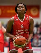 26 January 2020; Aryn McClure of Singleton Supervalu Brunell during the Hula Hoops Paudie O'Connor National Cup Final between Singleton SuperValu Brunell and Pyrobel Killester at the National Basketball Arena in Tallaght, Dublin. Photo by Brendan Moran/Sportsfile