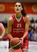 26 January 2020; Sinead O'Reilly of Singleton Supervalu Brunell during the Hula Hoops Paudie O'Connor National Cup Final between Singleton SuperValu Brunell and Pyrobel Killester at the National Basketball Arena in Tallaght, Dublin. Photo by Brendan Moran/Sportsfile