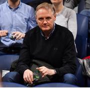 26 January 2020; Former Ireland and Leinster rugby head coach Joe Schmidt in attendance during the Hula Hoops Paudie O'Connor National Cup Final between Singleton SuperValu Brunell and Pyrobel Killester at the National Basketball Arena in Tallaght, Dublin. Photo by Brendan Moran/Sportsfile