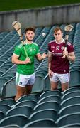 27 January 2020; Tom Morrissey of Limerick and Conor Whelan of Galway stand for a portrait during a media event at the LIT Gaelic Grounds in advance of the Allianz Hurling League Division 1 Group A Round 2 match between Limerick and Galway on Sunday. Photo by Harry Murphy/Sportsfile