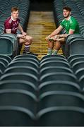 27 January 2020; Conor Whelan of Galway and Tom Morrissey of Limerick pose for a portrait during a media event at the LIT Gaelic Grounds in advance of the Allianz Hurling League Division 1 Group A Round 2 match between Limerick and Galway on Sunday. Photo by Harry Murphy/Sportsfile