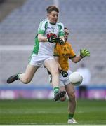 25 January 2020; Damien Bourke of Na Gaeil in action against Jason Dunne of Rathgarogue-Cushinstown during the AIB GAA Football All-Ireland Junior Club Championship Final match between Na Gaeil and Rathgarogue-Cushinstown at Croke Park in Dublin. Photo by Ramsey Cardy/Sportsfile