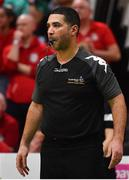 25 January 2020; Referee David Caballe during the Hula Hoops Pat Duffy National Cup Final between DBS Éanna and Griffith College Templeogue at the National Basketball Arena in Tallaght, Dublin. Photo by Brendan Moran/Sportsfile
