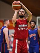 25 January 2020; Neil Randolph of Griffith College Templeogue during the Hula Hoops Pat Duffy National Cup Final between DBS Éanna and Griffith College Templeogue at the National Basketball Arena in Tallaght, Dublin. Photo by Brendan Moran/Sportsfile