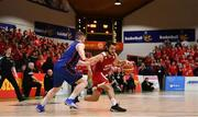 25 January 2020; Neil Randolph of Griffith College Templeogue in action against Neil Lynch of DBS Eanna during the Hula Hoops Pat Duffy National Cup Final between DBS Éanna and Griffith College Templeogue at the National Basketball Arena in Tallaght, Dublin. Photo by Brendan Moran/Sportsfile