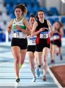 26 January 2020; Aoibhin McGoldrick of Raheny Shamrock AC, Dublin, 21, competes in the Women's 1500m event during the AAI National Indoor League Round 2 at AIT Indoor Arena in Athlone, Westmeath. Photo by Ben McShane/Sportsfile
