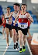 26 January 2020; Conor Deane of Galway City Harriers AC competes in the Men's 1500m event during the AAI National Indoor League Round 2 at AIT Indoor Arena in Athlone, Westmeath. Photo by Ben McShane/Sportsfile