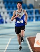 26 January 2020; Matthew Hayes of Ratoath AC, Dublin, competes in the Men's 1500m event during the AAI National Indoor League Round 2 at AIT Indoor Arena in Athlone, Westmeath. Photo by Ben McShane/Sportsfile
